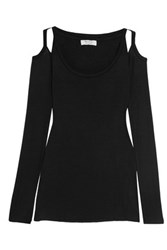 Bailey 44 Monarch Cutout Stretch Jersey Top Black