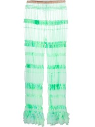 Ryan Lo Balloon Tulle Leggings Green