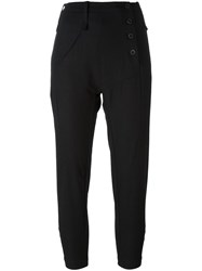 Lost And Found Ria Dunn High Waisted Cropped Trousers Black
