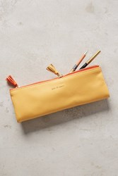 Anthropologie Idiom Pencil Pouch Coral