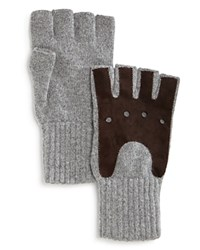Bloomingdale's The Men's Store At Knit Fingerless Gloves Grey Brown