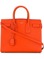 Saint Laurent Small 'Sac De Jour' Tote Yellow And Orange