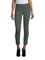 7 For All Mankind Sateen Skinny Ankle Jeans Olive