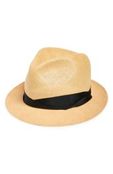 Rag And Bone Women's Rag And Bone 'Summer' Straw Fedora Beige