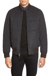 Vince Camuto Quilted Varsity Jacket Charcoal