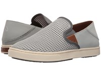 Olukai Pehuea Pale Grey Charcoal Women's Slip On Shoes Gray