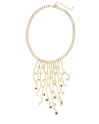 Fragments For Neiman Marcus Fragments Beaded Waterfall Fringe Necklace Clear