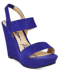 American Rag Audria Two Piece Platform Wedges Only At Macy's Women's Shoes Ultramarine