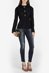 Erdem Karina Tweed Jacket Black