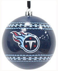 Memory Company Tennessee Titans Ugly Sweater Ball Ornament Blue