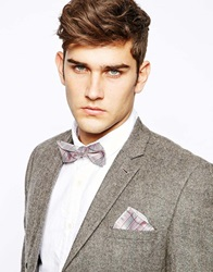 Selected Jim Bowtie And Pocket Square Red