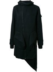 Moohong Structured Hooded Coat Black
