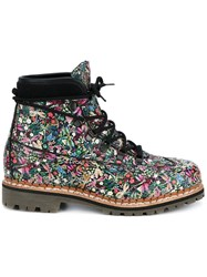 Tabitha Simmons 'Bexley' Floral Boots Multicolour