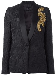Christian Pellizzari Embellished Detail Blazer Black