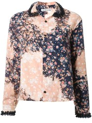 Akiko Aoki Floral Print Shirt Yellow Orange