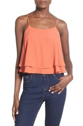 Astr Back Lace Up Camisole Orange