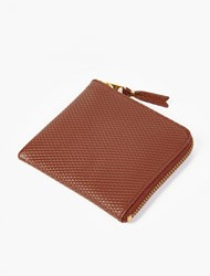 Comme Des Garcons Brown Luxury Leather Coin Wallet