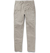 Brunello Cucinelli Slim Fit Cotton Trousers Tan