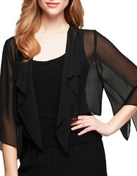 Alex Evenings Chiffon Bolero Black