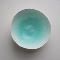 Aqua Paper Bowl Par Upintheairsomewhere Sur Etsy