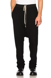 Rick Owens Drkshdw By Long Drawstring Pants In Black