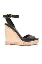 Ale By Alessandra Natural Jute Wedge Black