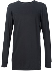 Rick Owens Drkshdw Long Fitted T Shirt Black