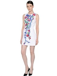 Andrew Gn Floral Embroidered Crepe Dress