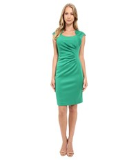 Calvin Klein Horse Shoe Neck Dress Grass Women's Dress Green