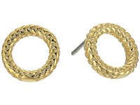 Cole Haan Open Round Stud Earrings Gold Earring