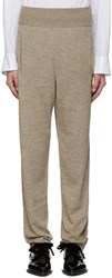 Lanvin Beige Knit Lounge Pants