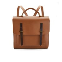 The Cambridge Satchel Company Men's Bridge Closure Backpack Vintage Dark Brown