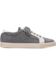 Brunello Cucinelli Panelled Lace Up Sneakers Grey