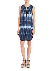 Vince Striped Tie Dye Silk Dress Monaco