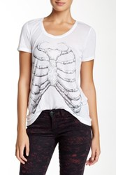 The Kooples Skeleton Print Tee White