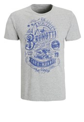 Brunotti Andante Print Tshirt Light Grey Melee
