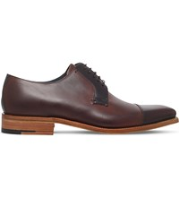 Barker Powell Leather Derby Shoes Brown