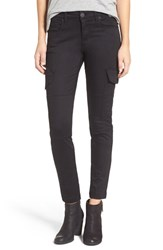 Sts Blue Women's Cargo Pocket Skinny Pants Black