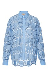 N 21 No. Lace Button Up Shirt Blue