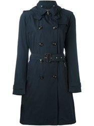 Woolrich Woolen Mills Classic Trench Coat Blue