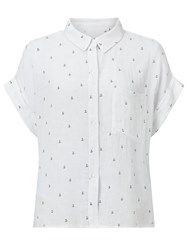 Rails Whitney Anchor Print Shirt White Anchor
