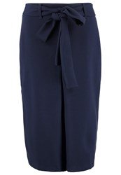 Closet Pencil Skirt Navy Dark Blue