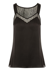 Jane Norman Lace Insert Camisole Black
