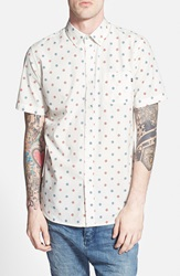 Obey 'Medula' Regular Fit Short Sleeve Print Woven Shirt Bone Blue Red