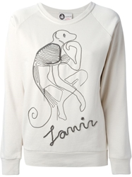 Lanvin Chain Monkey Sweatshirt Nude And Neutrals