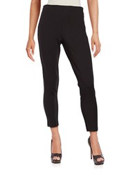 Ivanka Trump Zip Accented Ponte Pants Black