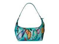 Anuschka 510 Floating Feathers Hobo Handbags Green