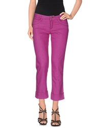 Tru Trussardi Denim Denim Trousers Women Fuchsia
