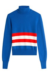 Emilio Pucci Wool Colorblock Turtleneck Stripes