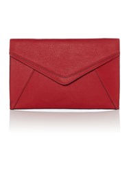 Linea Envelope Panel Clutch Bag Crimson